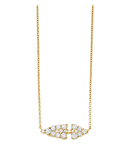 ASTLEY CLARKE Interstellar 14ct yellow gold and diamond pendant (Yellow+gold