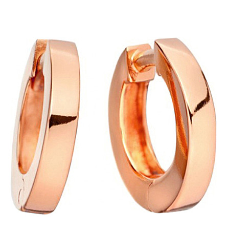 ASTLEY CLARKE Stilla 18ct rose-gold small hoop earrings (Rose+vermeil