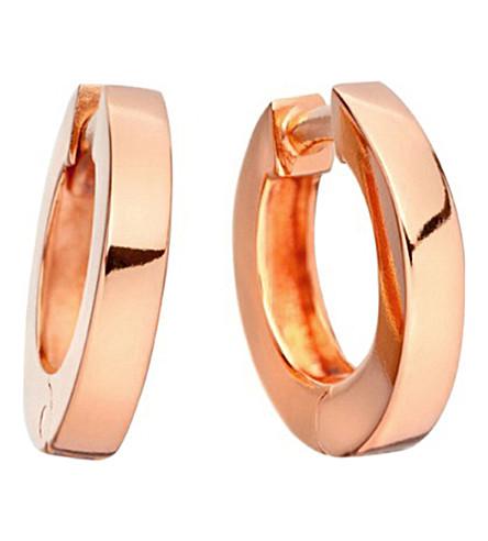 ASTLEY CLARKE Stilla 18ct rose-gold small hoop earrings (Rose+vermeil
