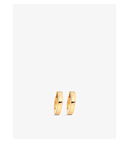ASTLEY CLARKE Mini Stilla 18ct yellow gold-plated sterling silver hoop earrings (Yellow+vermeil