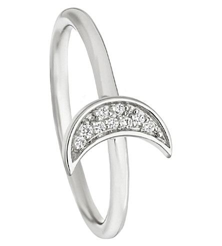 ASTLEY CLARKE Mini Moon Biography ring (Sterling+silver