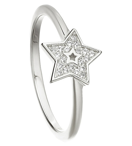 ASTLEY CLARKE Mini Star Biography ring (Sterling+silver