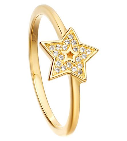 ASTLEY CLARKE Mini Star Biography ring (Sterling+silver