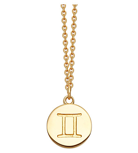 ASTLEY CLARKE Gemini Zodiac 18ct yellow-gold plated necklace (Yellow+gold
