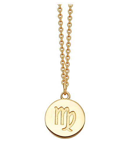 ASTLEY CLARKE Virgo Zodiac 18ct yellow-gold plated necklace (Yellow+gold