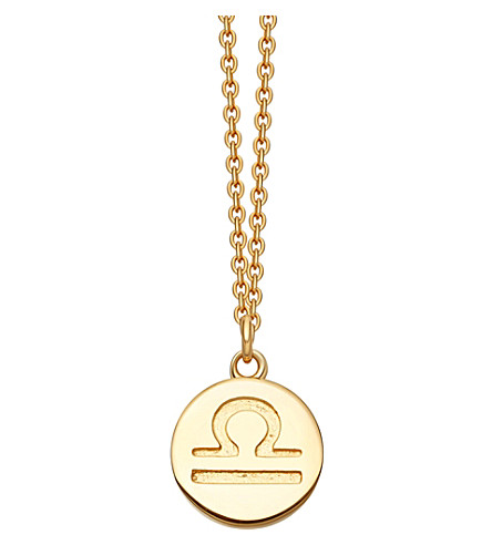 ASTLEY CLARKE Libra Zodiac 18ct yellow-gold plated necklace (Yellow+gold