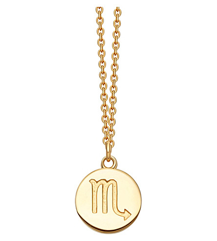 ASTLEY CLARKE Zodiac Scorpio biography 18ct yellow gold-plated pendant (Yellow+gold