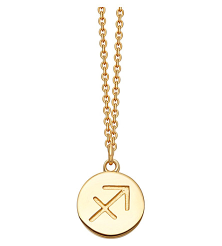 ASTLEY CLARKE Zodiac Sagittarius biography 18ct yellow gold-plated pendant (Yellow+gold