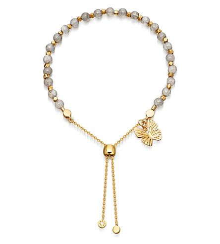 ASTLEY CLARKE Labradorite Kula butterfly 18ct yellow-gold vermeil bracelet
