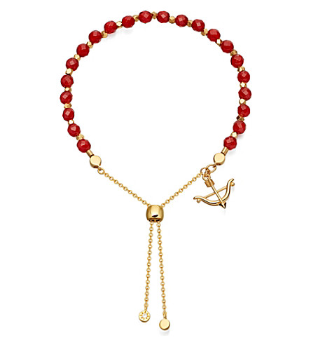 ASTLEY CLARKE Carnelian kula bow and arrow bracelet