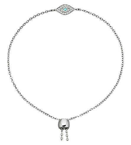 ASTLEY CLARKE Evil Eye mini sterling silver, sapphire and turquoise kula bracelet (Sterling+silver
