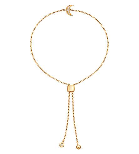 ASTLEY CLARKE 库拉18ct 镀金铺蓝宝石手链 (黄 + 金
