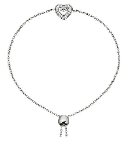 ASTLEY CLARKE Mini Heart Kula sterling silver and sapphire bracelet (Sterling+silver