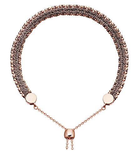 ASTLEY CLARKE Kula biography 18ct rose-gold thundercloud woven bracelet (Rose+vermeil