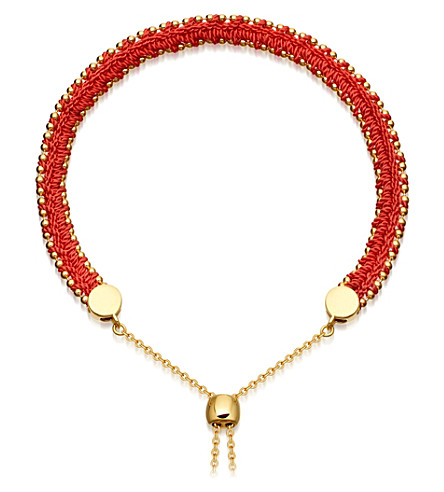 ASTLEY CLARKE Kula biography 18ct yellow-gold vermeil hot coral bracelet (Yellow+vermeil