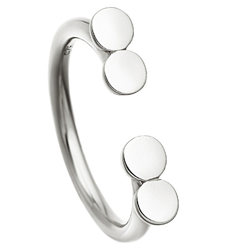ASTLEY CLARKE Stilla Double Disc sterling silver ring (Sterling+silver