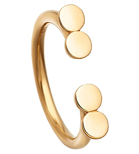 ASTLEY CLARKE Stilla Double Disc 18ct yellow gold-plated ring (Yellow+vermeil