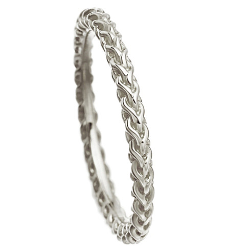 ASTLEY CLARKE Stilla Spiga sterling silver chain ring (Sterling+silver
