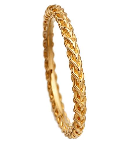 ASTLEY CLARKE Stilla Spiga yellow gold vermeil chain ring (Yellow+vermeil