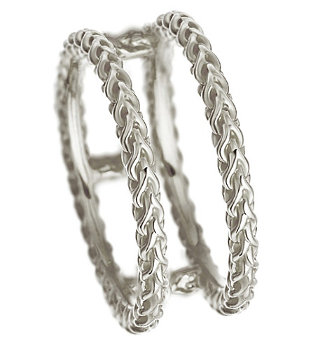 ASTLEY CLARKE Stilla Spiga double sterling silver chain ring (Sterling+silver