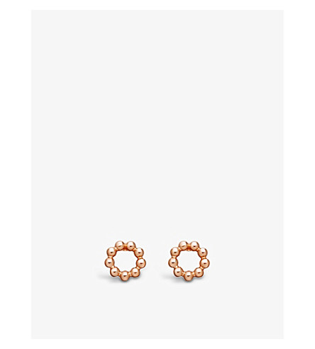 ASTLEY CLARKE Beaded Stilla stud earrings (Rose+vermeil