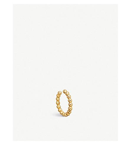 ASTLEY CLARKE 18ct yellow gold vermeil Stilla beaded ear cuff (Yellow+gold