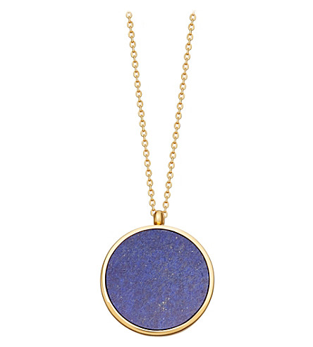ASTLEY CLARKE Lapis Slice Stilla lapis lazuli 18ct yellow-gold vermeil locket necklace