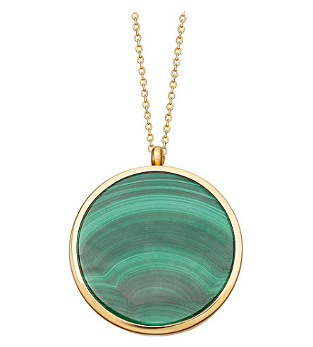 ASTLEY CLARKE Malachite slice Stilla locket large