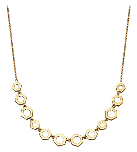ASTLEY CLARKE Honeycomb 14ct yellow-gold necklace (Yellow+gold