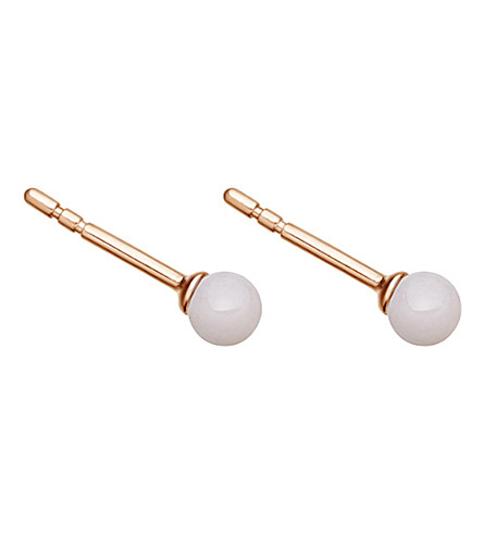 ASTLEY CLARKE Peggy 18ct rose gold-plated and pink opal stud earrings