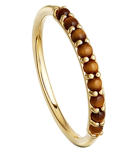 ASTLEY CLARKE Hedda 18ct yellow gold-plated and tigers eye ring
