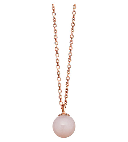 ASTLEY CLARKE Peggy rose gold-vermeil & pink opal pendant necklace