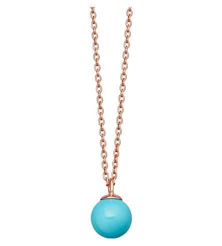 ASTLEY CLARKE Peggy rose gold-vermeil & turquoise pendant necklace
