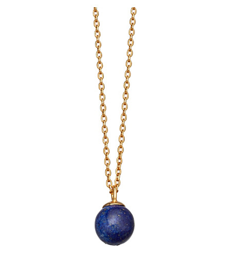 ASTLEY CLARKE Peggy yellow gold-vermeil & lapis pendant necklace