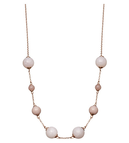 ASTLEY CLARKE Peggy rose-gold vermeil & pink opal necklace