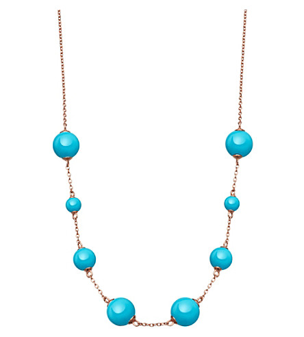 ASTLEY CLARKE Peggy rose-gold vermeil & turquoise necklace