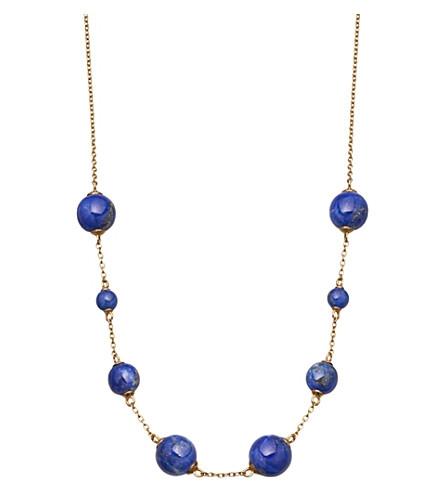 ASTLEY CLARKE Peggy yellow-gold vermeil & lapis necklace
