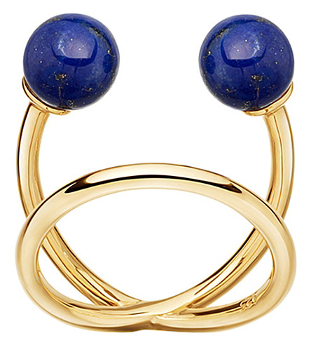 ASTLEY CLARKE Yves yellow-gold vermeil and lapis ring