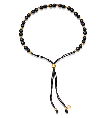 ASTLEY CLARKE Biography 18ct gold vermeil and black onyx beaded bracelet