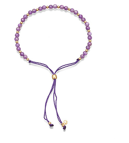 ASTLEY CLARKE Biography Amethyst 18ct gold-plated beaded bracelet