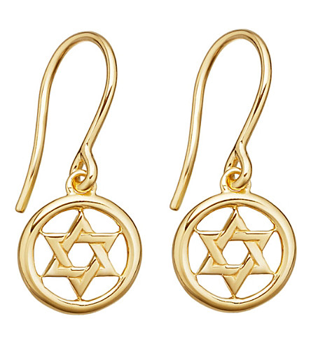 ASTLEY CLARKE Star of David Biography rose gold-plated drop earrings