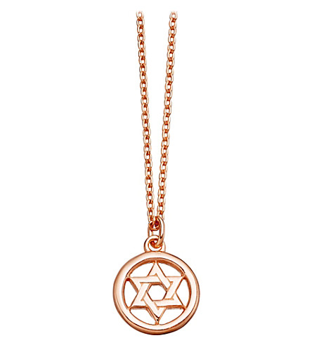 ASTLEY CLARKE Star of David Biography rose gold-plated pendant