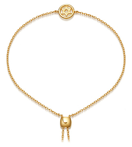 ASTLEY CLARKE Mini Star of David Kula 18ct gold plated bracelet