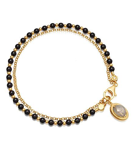 ASTLEY CLARKE Saturn Biography 18ct gold-plated bracelet