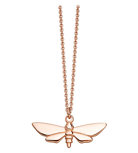 ASTLEY CLARKE Moth Biography rose gold-plated pendant
