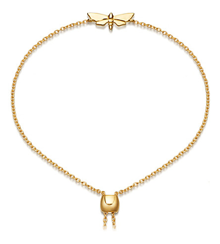 ASTLEY CLARKE Mini Moth Kula 18ct gold-plated bracelet