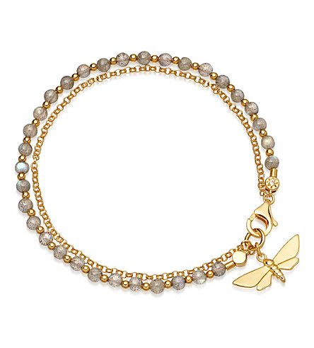 ASTLEY CLARKE Moth Biography 18ct gold and labradorite bracelet