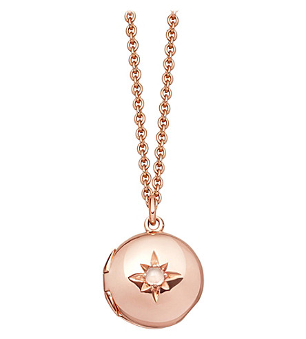 ASTLEY CLARKE Biography 18ct rose-gold plated locket necklace