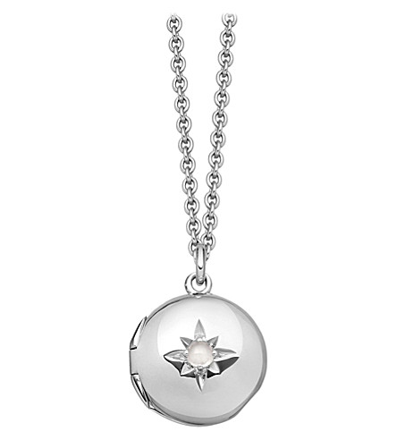 ASTLEY CLARKE Biography sterling silver locket necklace