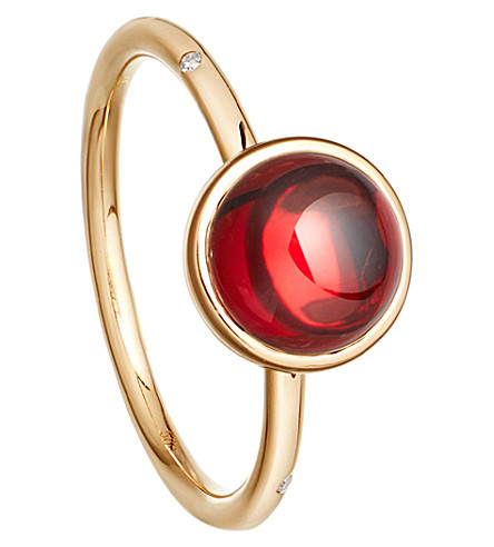 ASTLEY CLARKE Garnet mercury 14ct gold ring